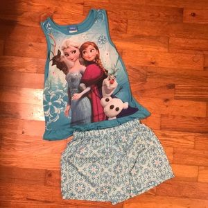 3/$20 💎 M (7/8) frozen shorts pj set